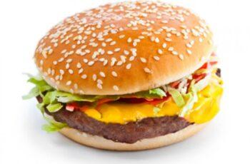 Hamburger mit geschmolzenem Käse Rezept