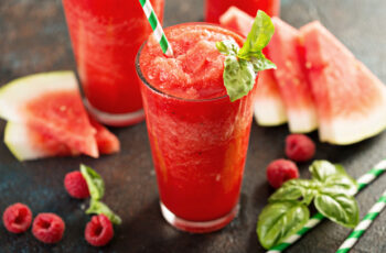 Melonen-Himbeer-Slush Rezept