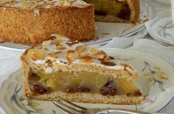 Gedeckter Apfelkuchen mit Pudding Rezept