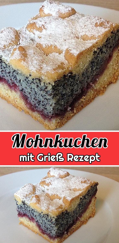 Leckerer Mohnkuchen mit Grieß Rezept