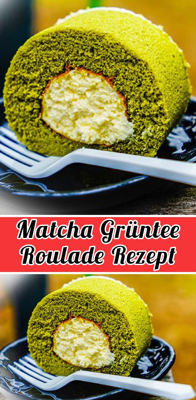 Matcha Grüntee Roulade Rezept
